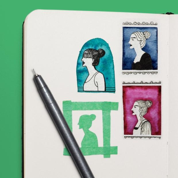 tape-resist-watercolor-silhouette-tutorial
