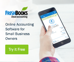 Ad for Fresh Books Accounting Software